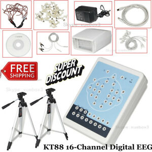 Ce Contec Kt88 16 channel Digital Eeg Machine Mapping System Pc Software tripod