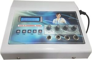 Lcd Tens 4 Channel Metal Body Physiotherapy Pain Relief Machine Physiomodalities