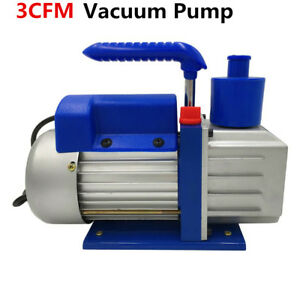 Single stage 3cfm Rotary Vane Deep Vacuum Pump 1 4hp Hvac Ac Air Tool Usa
