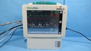 Welch Allyn Propaq Cs Patient Monitor 244 W Masimo Spo2 Nibp Ecg Co2