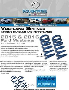 Roush Yates Spg15gt Lowering Springs Ford Mustang Gt 5 0l Blue