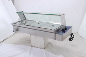 Stainless Steel Food Warmer 3 Counter Top Countertop Commercial Cooler Depot New