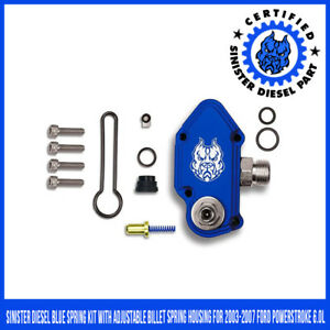 Sinister Diesel Blue Spring Kit With Adjustable Billet Spring Housing