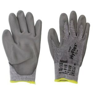 Ansell 11 627 8 Hyflex Lycra Safety Gloves Size 8 Gray 12 Pairs