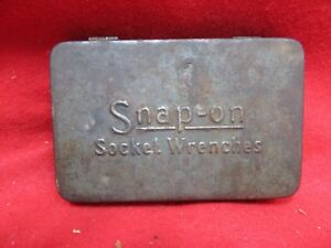 Snap On Tools Vintage Gray 1 4 Drive Socket Wrenches Tool Box Storage Tray