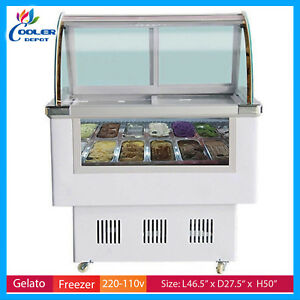 Gelato Ice Cream Dipping Cabinet Freezer Display Cases Display Cabinet