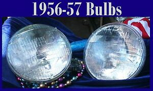 Corvette 1955 1956 1957 Headlight Replacement Bulbs New