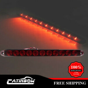Red 15 Light Bar 11 Led Stop Turn Tail 3rd Brake Light Truck Trailer Waterproof