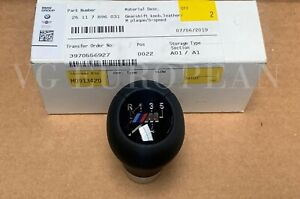 Bmw Genuine E46 3 series Black Leather W 5 speed M Emblem Shift Knob Heavy New