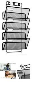 4 pocket Hanging Wall File Organizer Folder Holder Mounting Hardware With Labels