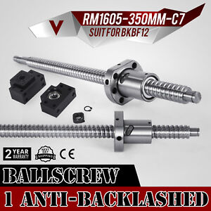 Anti Backlash Ballscrew 16mm Rm1605 350mm Good Quality Accurate Ball Nut Pro
