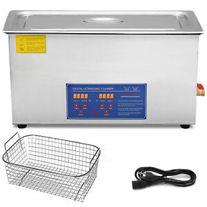 Stainless Steel 30 L Liter Industry Heated Ultrasonic Cleaner Heater W Timer