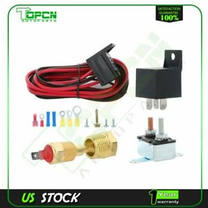 Electric Cooling Fan Thermostat Relay Switch Wiring Hardware 175 To 185 Degree