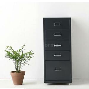 5 Drawer Metal File Cabinet Filing Lateral Letter Organizer Under Desk New Q2h1