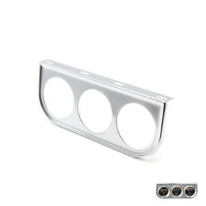 2 52mm Universal 3 Triple Gauge Holder Bracket Face Pod Panel Mount Silver