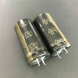 10pcs 6800uf 63v Nichicon Kg 25x50mm 63v6800uf Gold Tune Hifi Audio Capacitor
