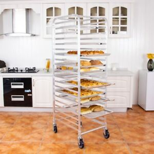 26 X 20 X 70 20 Sheet Aluminum Pan Rolling Bakery Rack Restaurant Storage Kit