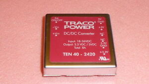 New 1pc Traco Power Ten40 2420 Dc dc Converter Isolated Output 3 3vdc 5vdc 8a