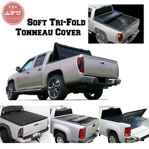 Apu 15 19 Ford F 150 5 5 Ft Bed Truck Black Soft Trifold Tonneau Cover Stf Fo11