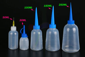 Empty 30 250ml Plastic Squeezable Liquid Container Dropper Bottles Ldpe Screwcap