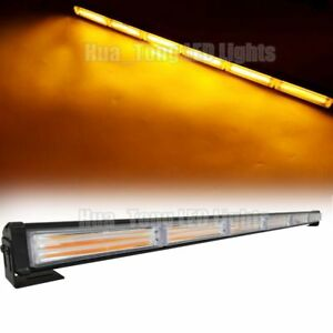 35 Light Bar 108w Cob Led Warning Emergency Beacon Traffic Advisor Strobe Amber