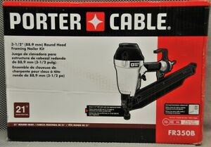 Porter Cable 3 Round Head Air Pneumatic Framing Nailer Kit Fr350b
