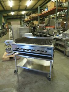 48 Steakhouse Charbroiler Nat Gas 160 000 Btu Includes Stand Free Shipping