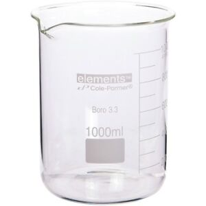 new Lot Of 10 Large Sized Borosilicate Beakers 1000ml 1500ml 2000ml