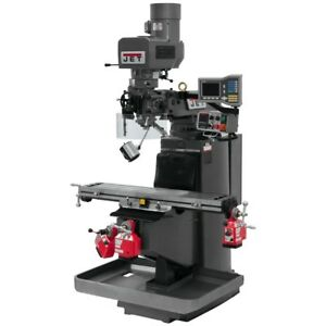 Jet 690514 Jtm 949evs Mill 3 axis Acu rite Vue Dro X Y Z axis Powerfeeds