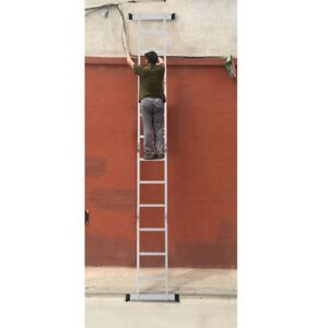 Home Multi Purpose Step Aluminum Folding Scaffold Ladder Save Space 12 5ft Us