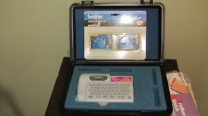 Brother P touch Label Maker pt 12 With Tapes manuals And Carry Case