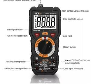 Tacklife Dm01m Advanced Digital Multimeter Trms 6000 Counts Tester Non Contact