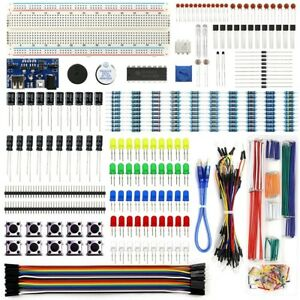 Electronics Component Fun Kit W Power Supply Module Jumper Wire 830 For Pi