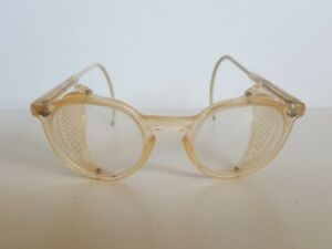 Vtg Safety Eye Glasses Goggles Sellstrom Steampunk Motorcycle Side Mesh Clear