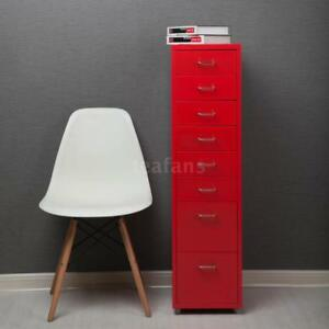 Metal Storage File Rolling Cabinet Filing Cabinet 8 Sliding Drawers Office A4y0