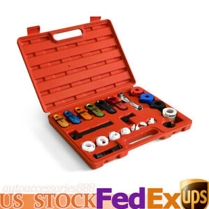 Generic Car Deluxe A C Fuel Transmission Line Disconnect Tool Kit Fit For Ford