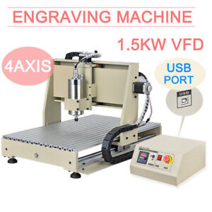 4 Axis Cnc 3040 Usb Router Engraver Milling Drilling Engraving Machine Desktop