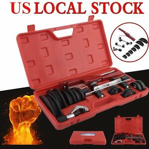 Hvac Refrigeration Ratchet Tube Bender Cutter Copper Pipe Tool W Carry Box New