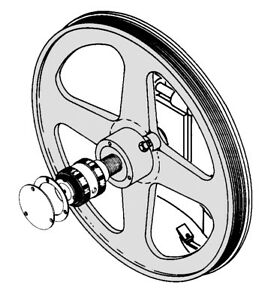 Biro Meat Saw Upper Wheel Fully Assembled With Hinge Plate For Models 33