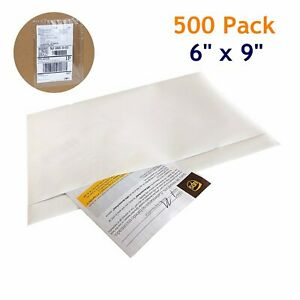 500 6x9 Clear Packing List Mailing Pouches Shipping Enclosed Envelopes Adhesive