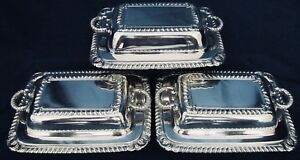 Antique Boxes Small Covered Silver Plate International Silver