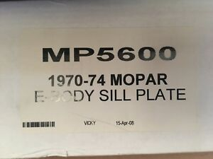 1970 1974 E body Door Sill Plates No Picture Cuda Challenger