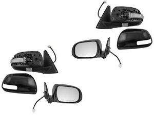 For 2010 2013 Toyota 4runner Power Heat Signal Puddle Light Mirror Pair Set