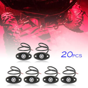 20pcs 9w Red Led Rock Light For Jeep Atv Off road Truck Underbody Rig Lamp