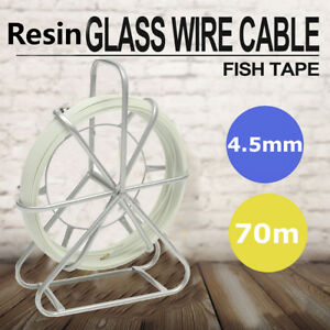 Fish Tape Fiberglass Wire Cable 4 5mm 70m Running Rod Duct Rodder Puller Us