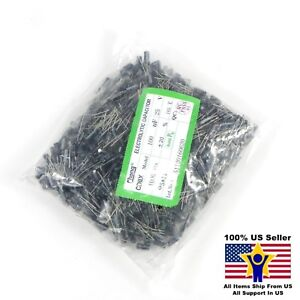 1000pcs 100uf 25v 5x11mm Radial Electrolytic Capacitors Us Seller Cap0017 1000