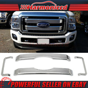 Fits 11 16 Ford F250 350 450 Platinum Style Superduty Front Mesh Grill Grille
