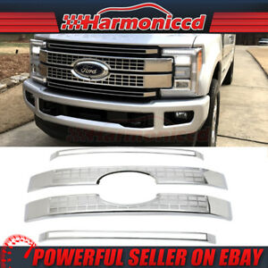 Fits 17 18 Ford Superduty F250 F350 F450 F550 Platinum Style Front Hood Grille