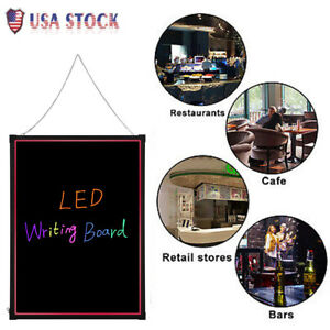 60 X 80 Cm Led Flashing Illuminated Erasable Neon Menu Writing Sign Board Us