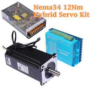 12nm 8 5nm 4nm Nema34 Closed Loop Hybrid Servo Motor Cnc Kit Diy Router Machine